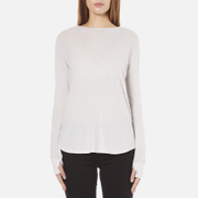 Helmut Lang Women's Long Sleeve Thumb Hole T-Shirt - White Melange