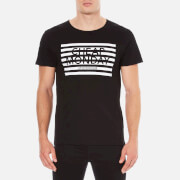 Cheap Monday Men's Standard Striped Logo T-Shirt - Black