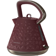 Morphy Richards 108103 Prism Textured Kettle - Merlot