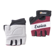 Santini Vino Eroica Race Gloves - Red