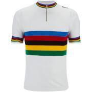 Santini UCI Rainbow Heritage Series Short Sleeve Jersey - White