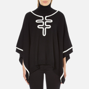 Boutique Moschino Women's Contrast Detail Cape Jumper - Black