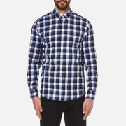 Tommy Hilfiger Men's Gingham Twill Long Sleeve Shirt - Blue Ribbon/Navy Blazer/Multi