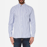 Tommy Hilfiger Men's Pin Point Oxford Long Sleeve Shirt - Dutch Navy/Classic White