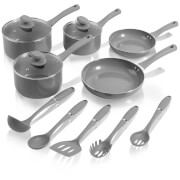 Swan Pan Set with Utensil Set - Slate (5 Piece)
