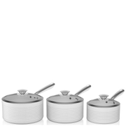 Tower Linear Saucepan Set - White (3 Piece)
