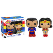 Superman en Wonder Woman Pop! Home Peper- en Zoutstel