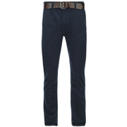 Smith & Jones pour Homme Ashlar Belted Chinos -Marine Sergé