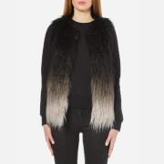 Superdry Women's Boho Ombre Faux Fur Gilet - Grey Ombre
