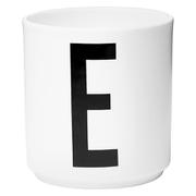 Design Letters Porcelain Cup - E