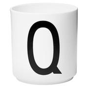 Design Letters Porcelain Cup - Q