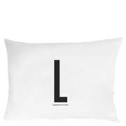 Design Letters Pillowcase - 70x50 cm - L