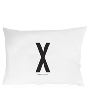 Design Letters Pillowcase - 70x50 cm - X