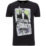 DC Comics Men's Suicide Squad Harley and Joker Cards T-Shirt - Black