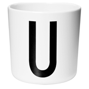 Design Letters Kids' Collection Melamin Cup - White - U