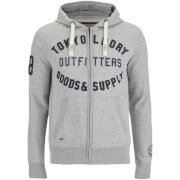 Tokyo Laundry Men's Hawk Hills Zip Through Hoody - Light Grey Marl