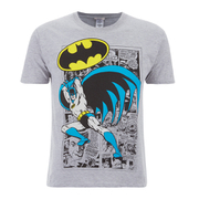 DC Comics Men's Batman Comic Strip T-Shirt - Grey