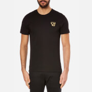 Versace Jeans Men's Small Logo Crew Neck Top - Nero