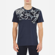 Versace Jeans Men's Embellished Crew Neck T-Shirt - Blue