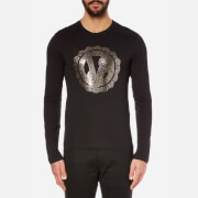 Versace Jeans Men's Crew Neck Long Sleeve Top - Nero