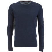 Brave Soul Men's Parse Supersoft Crew Neck Jumper - Royal Blue