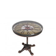 Verdi Industrial Clock Table