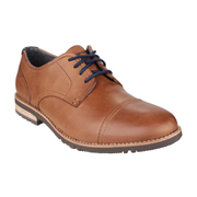Rockport Men's Ledge Hill 2 Toe Cap Oxford Shoes - Caramel