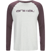 T-Shirt Raglan Manches Longues Animal -Gris