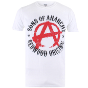 Sons of Anarchy Anarchy Heren T-Shirt - Wit