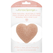 The Konjac Sponge Company Heart Facial Puff with French Pink Clay