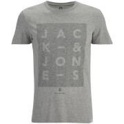 Jack & Jones Men's Core Paris Print T-Shirt - Light Grey Melange