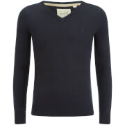 Soul Star Men's Alpha V Neck Jumper - Navy