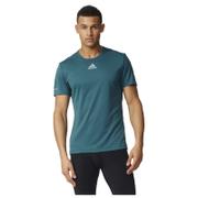 adidas Men's Sequencials Climalite Running T-Shirt - Green