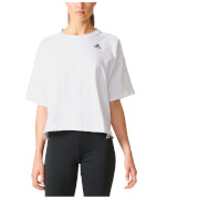 adidas Women's Over Sized 3-Stripes Training T-Shirt - White