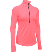 Under Armour Women's ColdGear Armour 1/2 Zip Long Sleeve Shirt - Brilliance Pink