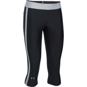 Under Armour Women's HeatGear Sport Capri Tights - Black/True Grey Heather