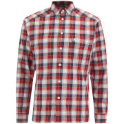 Haglofs Men's Tarn Flannel Shirt - Real Red/Blue Ink