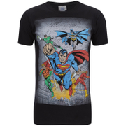 T-Shirt Homme DC Comics Superhero Flying - Noir
