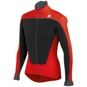 Sportful Force Thermal Long Sleeve Jersey - Black/Red