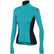 Sportful Women's Fiandre Light NoRain Long Sleeve Jersey - Turquoise/Black