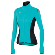 Sportful Women's Fiandre Light NoRain Long Sleeve Jersey - Turquoise/Black