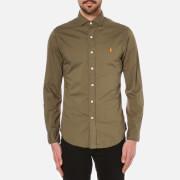 Polo Ralph Lauren Men's Long Sleeve Slim Shirt - Olive
