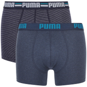 Puma Men's 2-Pack Striped Boxers - Blue/Navy