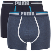 Lot de 2 Boxers Athletic Blocking Puma -Bleu/Marine