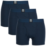 Crosshatch Men's 3 Pack Triplet Boxers - Insignia Blue
