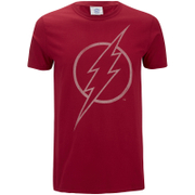 DC Comics Men's The Flash Line Logo T-Shirt - Cardinal Red