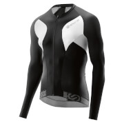 Skins Cycle Men's Tremola Due Long Sleeve Jersey - Black/White