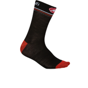 Castelli Atelier 13 Cycling Socks - Black/Red