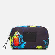 Marc Jacobs Women's Parrot Printed Large Cosmetics Bag - Black Multi