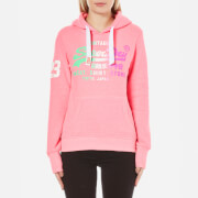 Superdry Women's Store Side Fade Hoody - Snowy Ultra Pink